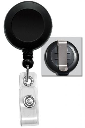 Round Badge Id Reel With Strap And Slide Clip