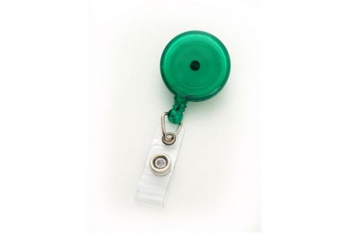 Round Badge Reel With Strap And Swivel Clip (Translucent)