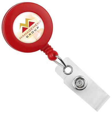 Round Badge Reel With Strap And Swivel Clip