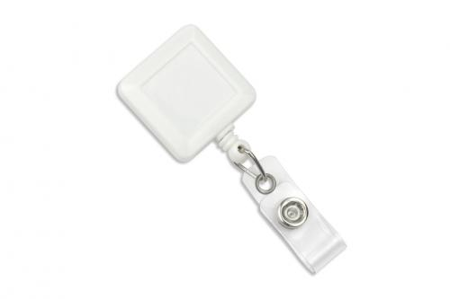 Square Badge Reel With Strap And Slide Clip