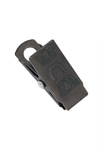 "2 1/16"" (27mm) Black-Oxide Bulldog Clip"