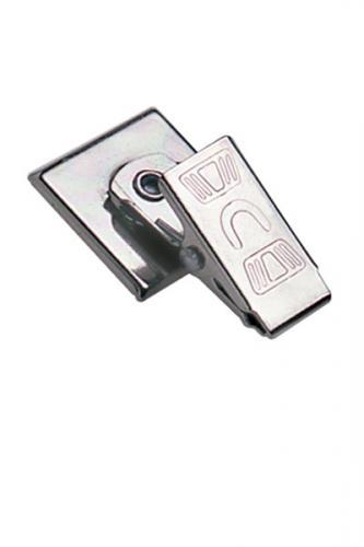 "Pressure-Sensitive Nickel-Plated Clip, Embossed ""U"" Bulldog Clip"