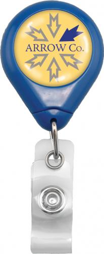 Royal Blue Premium Badge Reel With Strap And Slide Clip