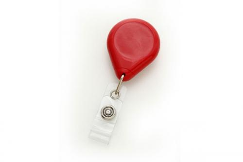 Red Premium Badge Reel With Strap And Slide Clip