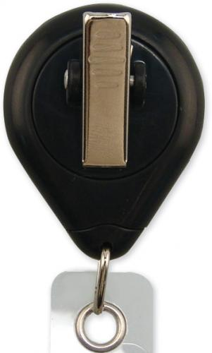 Black Premium Badge Reel With Strap And Slide Clip