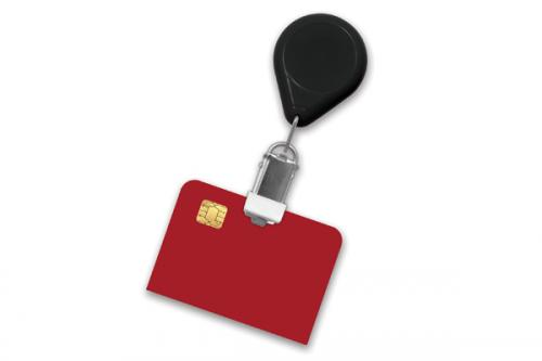 Premium Badge Reel With Card Clamp And Swivel Clip