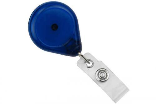 Premium Badge Reel With Strap And Swivel Clip (Translucent)