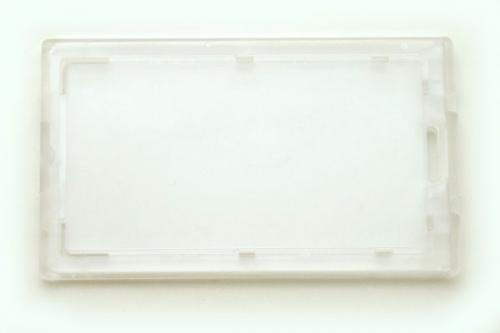 Clear Locking Plastic Card Holder