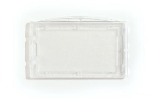 Clear Locking Plastic Card Holder
