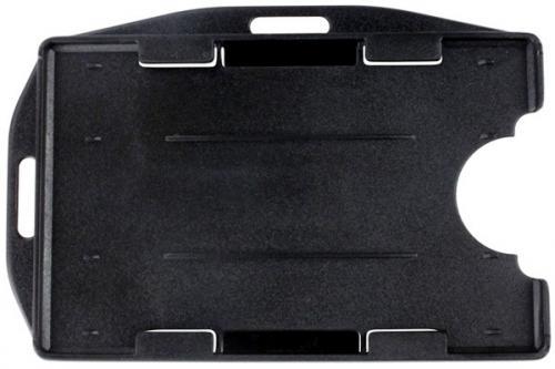 Rigid Plastic Horizontal/Vertical 2-card Badge Holder