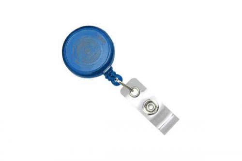 Round Max Label Reel With Strap And Slide Clip (Translucent)