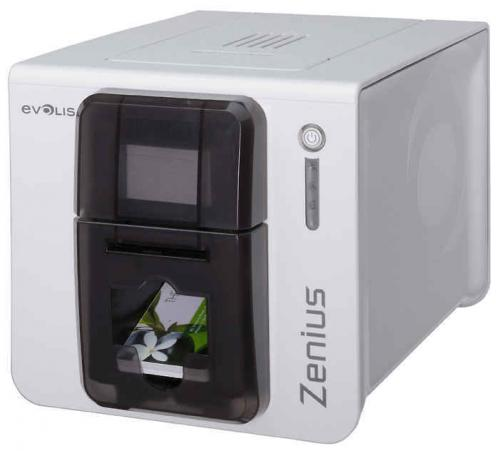 Evolis Zenius Classic Single Sided ID Card Printer - Grey Brown