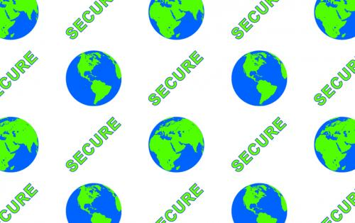 "Alternating Full Hologram patch ""Secure Globe"" 125 cards/roll"