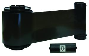 K Resin Black ribbon w/ cleaning roller, 3000 cards/roll