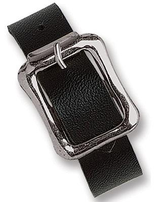 Black Vinyl Luggage Strap with NPS Buckle, 7 X 1/2""