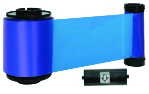 B Resin blue ribbon w/ cleaning roller, 3000 cards/roll