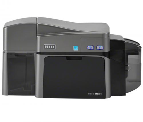 Fargo DTC1250e Dual Sided ID Card Printer w/ Ethernet and Magnetic Encoding