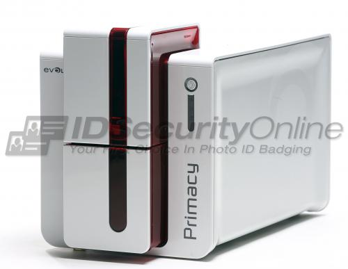 Evolis Primacy Dual Sided ID Card Printer with Ethernet  - Red