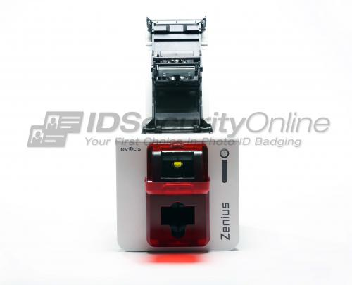Evolis Zenius Expert Single Sided ID Card Printer with Magnetic Encoding - Ethernet - Fire Red