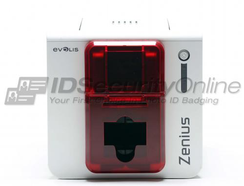 Evolis Zenius Single Sided ID Card Printer - Fire Red