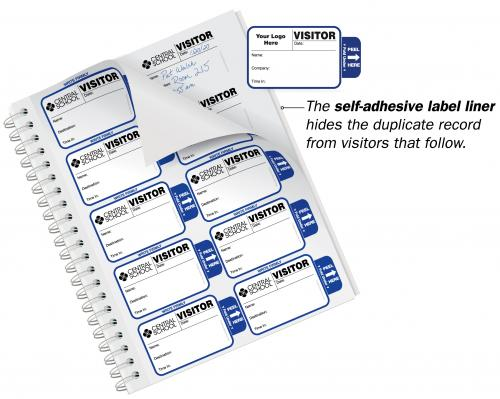 Expiring Most Popular Badges Sign-In Book for Corporations