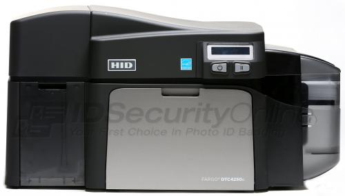 Fargo DTC4250e Dual Sided ID Card Printer with 100 Card Input Hopper