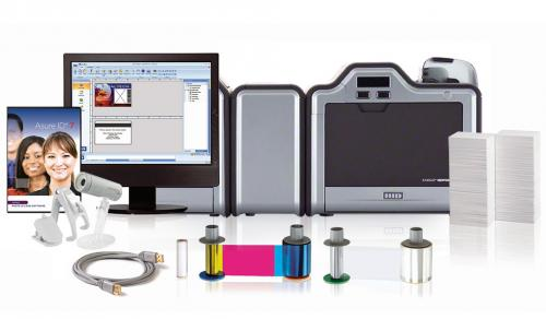 Fargo HDP5000 Dual Sided ID Card System with Dual Sided Lamination