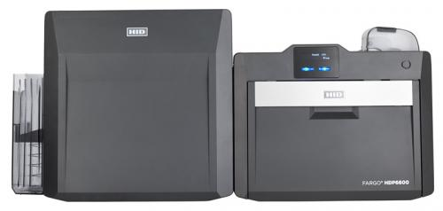 Fargo HDP6600 Retransfer Single Sided ID Card Printer with Single-Sided Lamination and Flattener