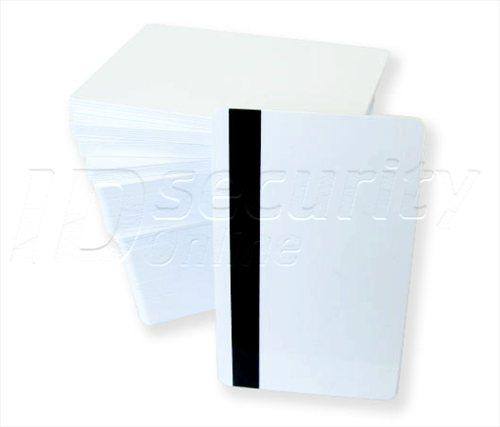 CR80.030 (30 Mil) White PVC Cards Mag Stripe 2 Track - Qty. 500