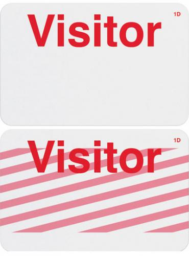 "Onestep Self-expiring Timebadge (1-Day) Pre-Printed ""Visitor"""