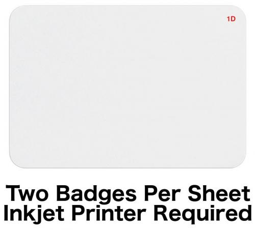 "1-Day Expiring Badge Front (Inkjet Printable, 4"" X 6"" Sheet)"