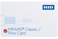 HID 3556 MIFARE Classic   Prox (4K) Composite 40% Polyester/PVC Card with SIO encoding – Qty 100