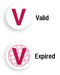 "Round Expiring Timespot ""V"" (Red) (One Day)"