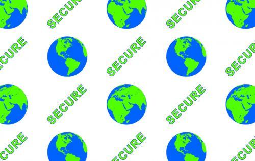 """Smart 50 Alternating Hologram Patch """"Secure Globe"""" Front"""