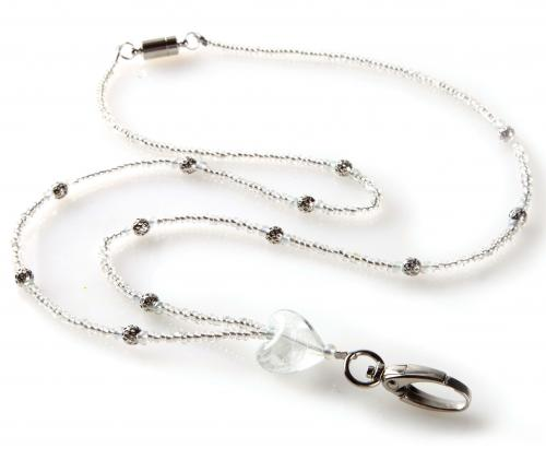 Silver Heart Fashion  Lanyard