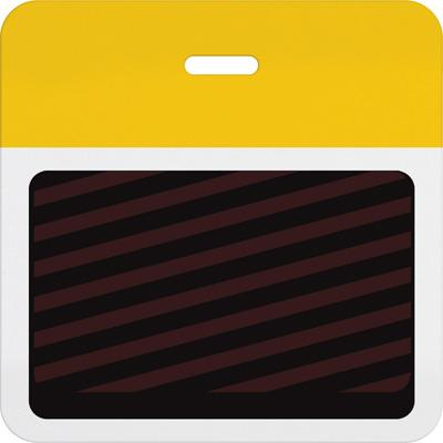 Slotted Expiring Badge Back with Printed Yellow Bar
