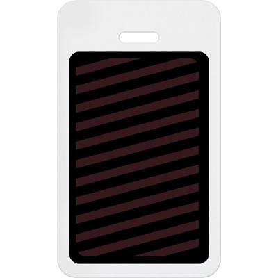 Vertical Slotted Expiring Badge Back with Printed White Bar