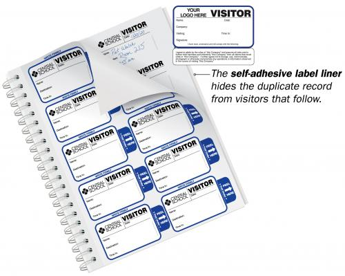 Visitor Agreement Badges Sign-In Book for Corporations