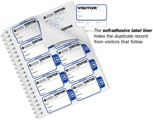 Most Visible Sign-Out Visitor Badge Sign-In Book for Schools