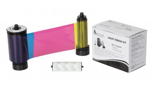 ymcKO Half color ribbon w/ cleaning roller, 1000 cards/roll