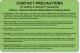 Contact Precaution Labels