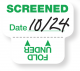 Expiring Screened Sticker