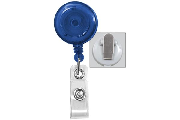 Translucent Badge Reel With Clear Vinyl Strap Amp Spring Clip